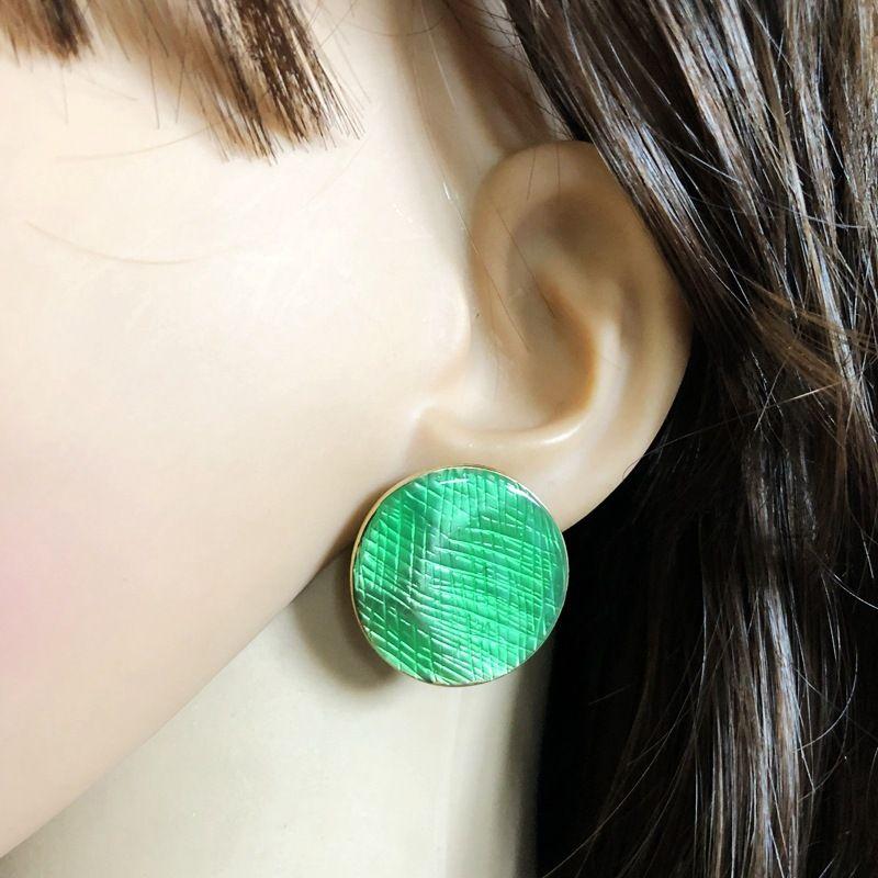 Alloy Fashion  earring  green NHOM0422green