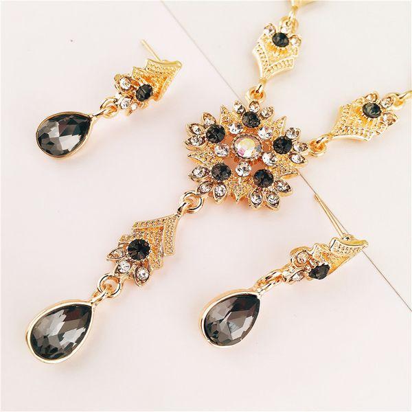 Alloy Fashion  necklace  (yellow) NHVA4960-yellow