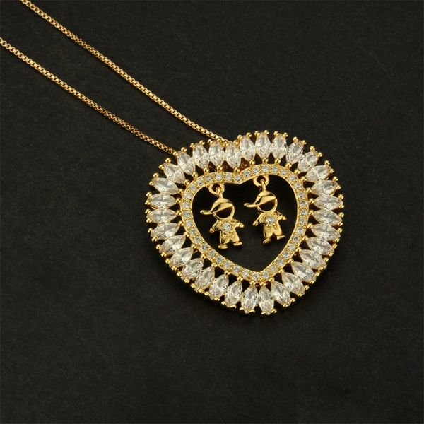 Copper Fashion Animal necklace  (Male and male white) NHBP0068-Male and male white