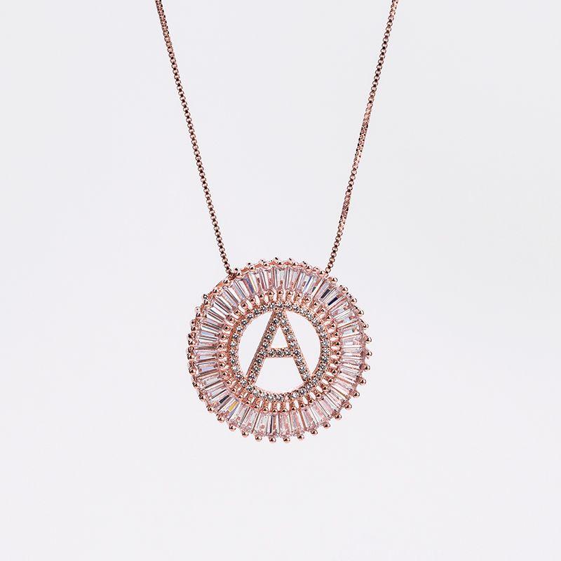 Copper Fashion Geometric necklace  (A) NHBP0069-A