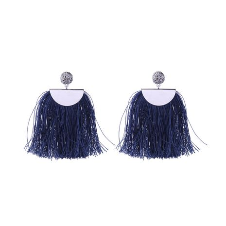 Alloy Fashion Tassel earring  (Blue-2) NHQD5191-Blue-2's discount tags