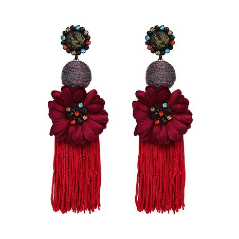 Alloy Fashion Flowers earring  (red) NHJJ4729-red's discount tags