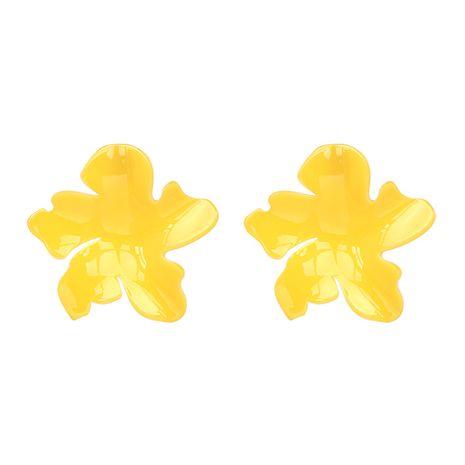 Plastic Bohemia Flowers earring  (yellow) NHJJ4740-yellow's discount tags
