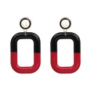Plastic Fashion Geometric earring  red NHJJ4739red