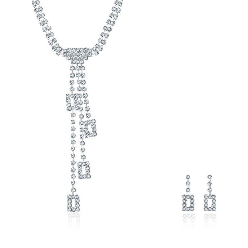 CDS042 2016 the new fashion wedding jewelry suit NHKL8597
