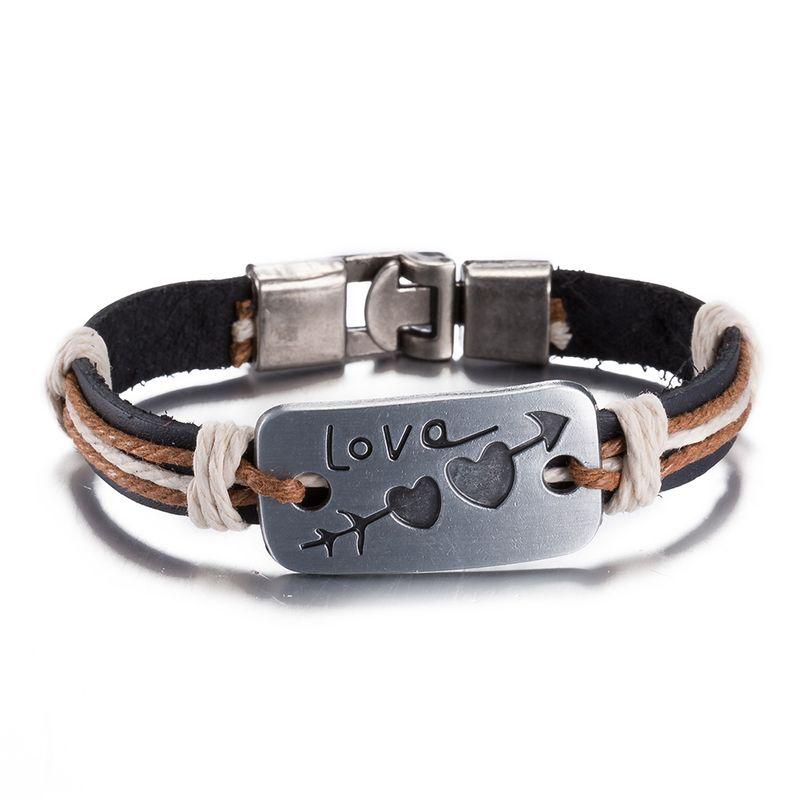NEW Jewelry fashion Leather Cute Infinity Charm Bracelet Alloy lots Style PickD FSH046 NHKL8688-D