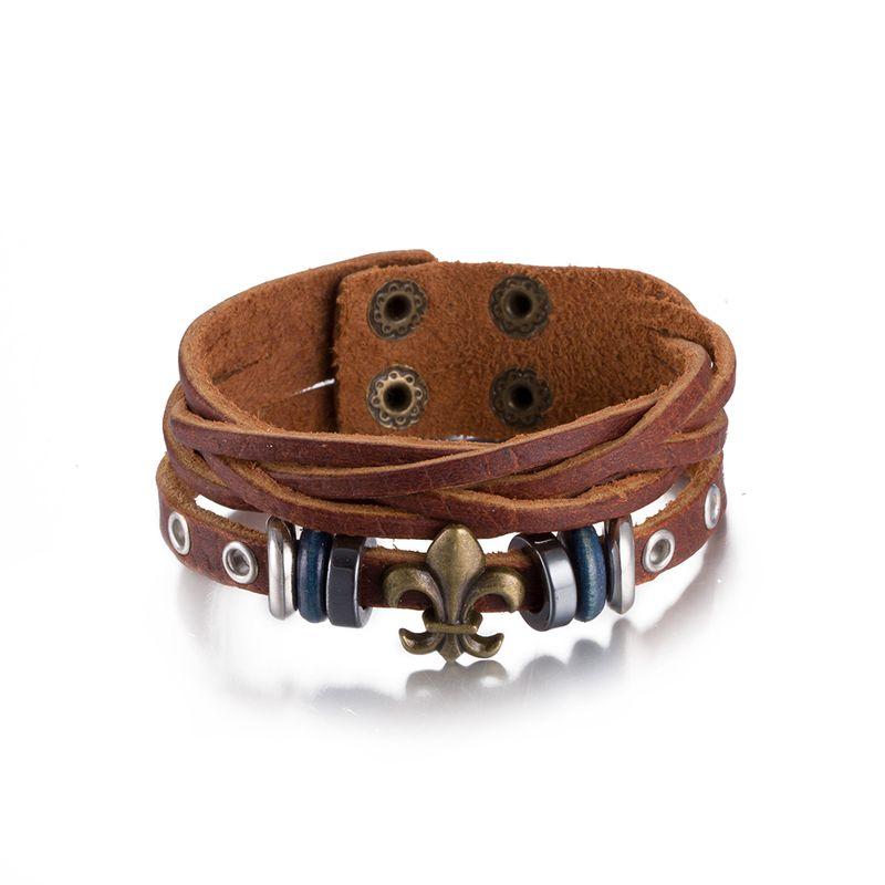 NEW Jewelry fashion Leather Cute Infinity Charm Bracelet Alloy lots Style PickD NHKL8694