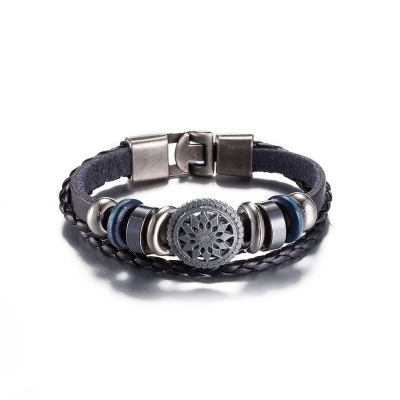 NEW Jewelry fashion Leather Cute Infinity Charm Bracelet Alloy lots Style PickD NHKL8697