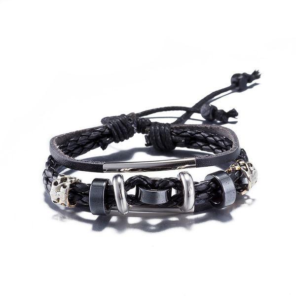 NEW Jewelry fashion Leather Cute Infinity Charm Bracelet Alloy lots Style PickD NHKL8700-B