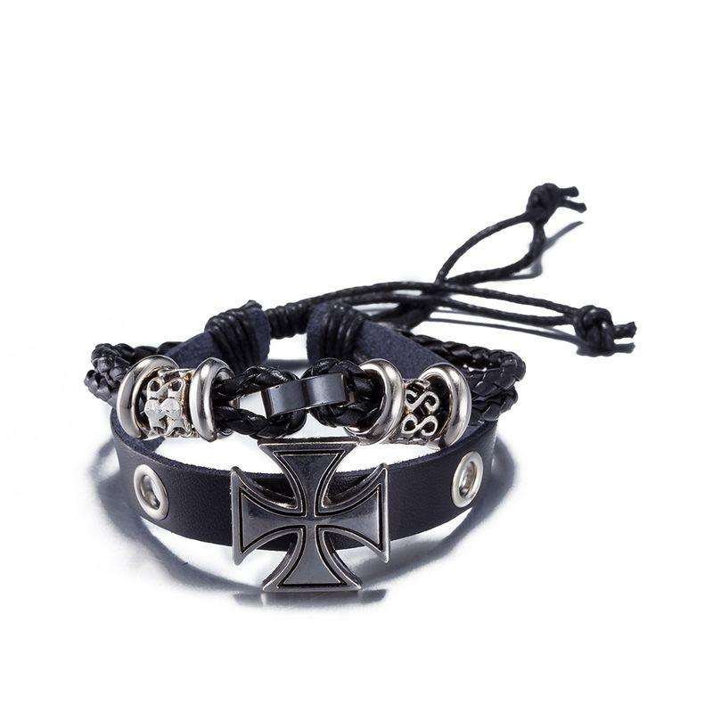 NEW Jewelry fashion Leather Cute Infinity Charm Bracelet Alloy lots Style PickD NHKL8729-C