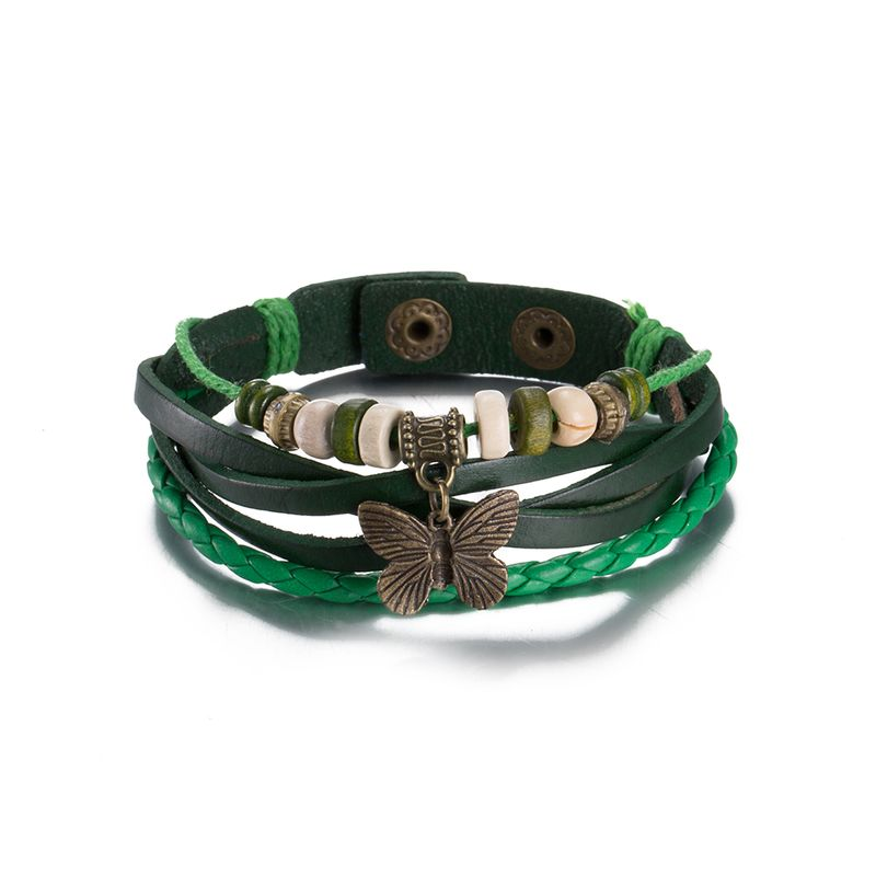 NEW Jewelry fashion Leather Cute Infinity Charm Bracelet Alloy lots Style PickD FSH102 NHKL8741-D