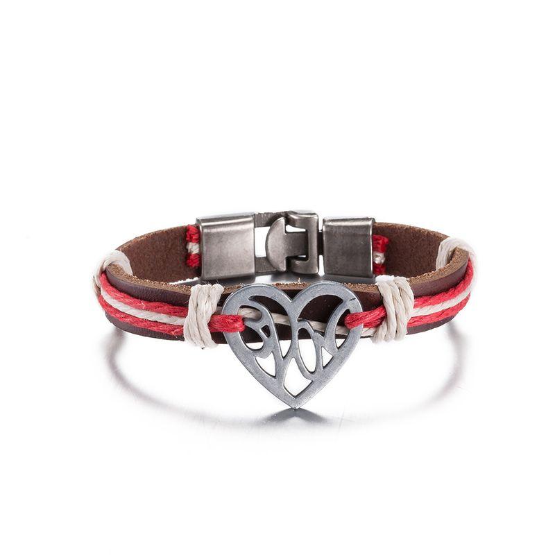 NEW Jewelry fashion Leather Cute Infinity Charm Bracelet Alloy lots Style PickD NHKL8800-B
