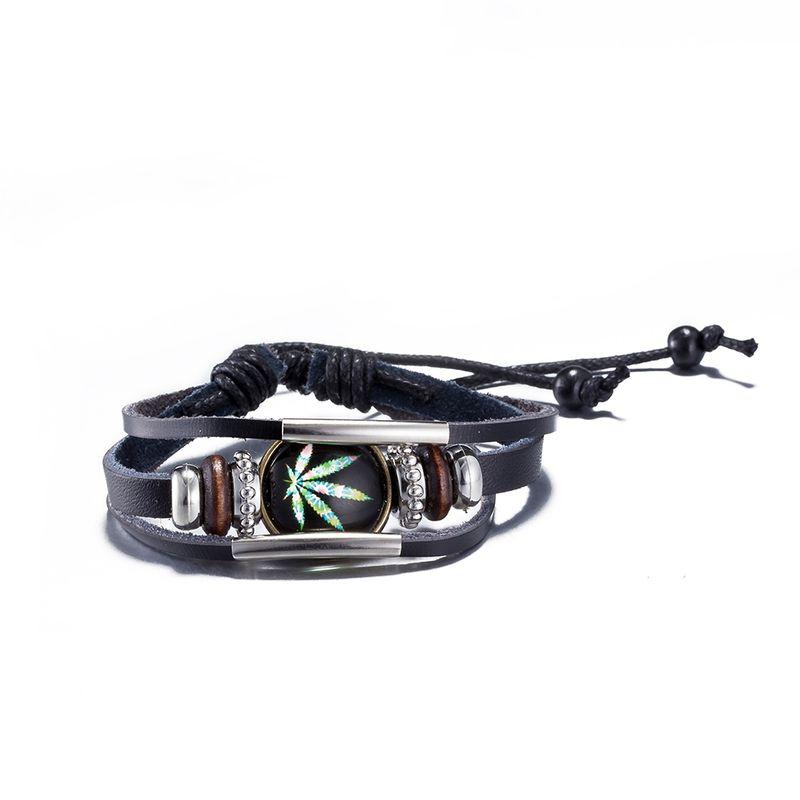 NEW Jewelry fashion Leather Cute Infinity Charm Bracelet Alloy lots Style PickD NHKL8814