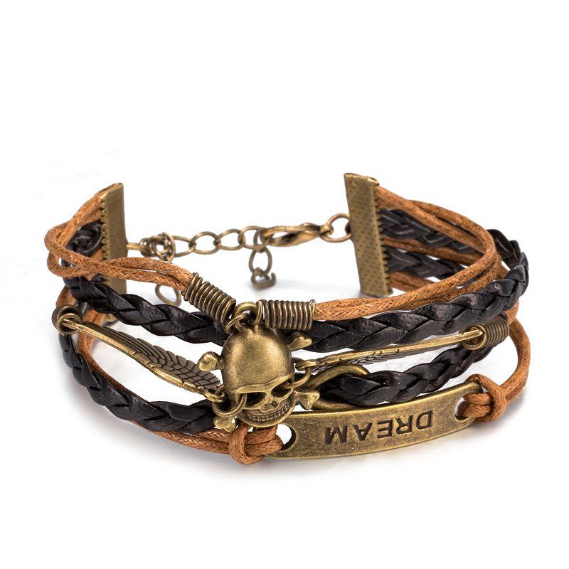 NEW Jewelry fashion Leather Cute Infinity Charm Bracelet Alloy lots Style PickD FSH207 NHKL8840