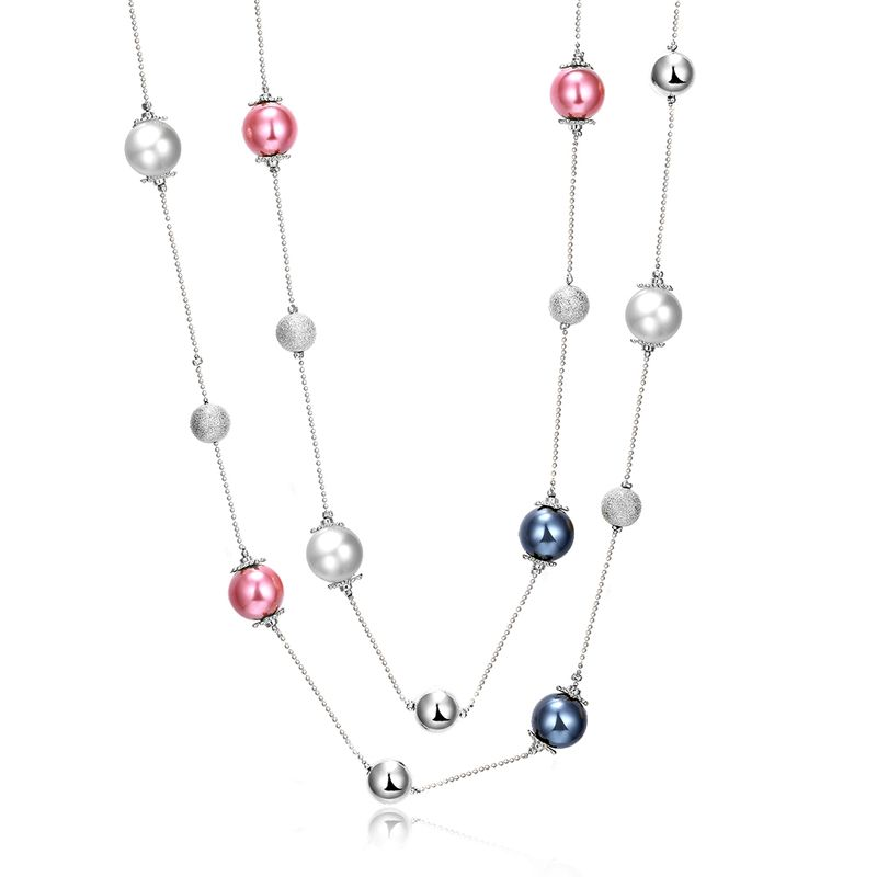 Charm Vintage Women Pendant Chain Imitated crystal Choker Chunky Collar Necklace FSN098 NHKL8948B