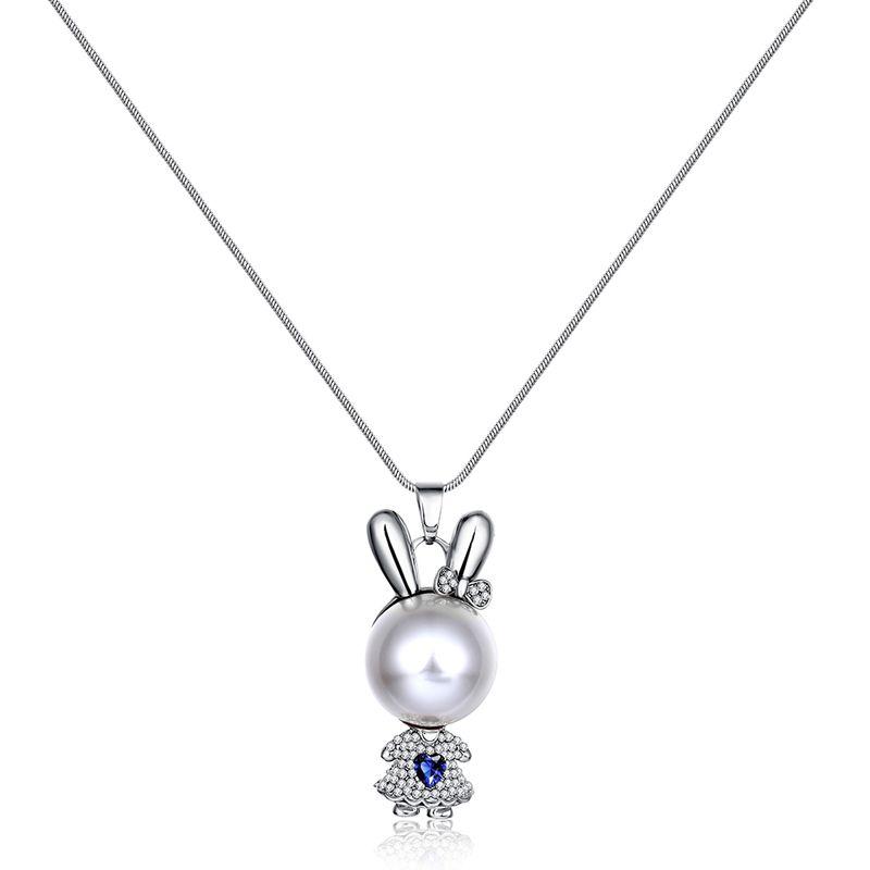 Charm Vintage Women Pendant Chain Imitated crystal Choker Chunky Collar Necklace FSN150 NHKL8991-B