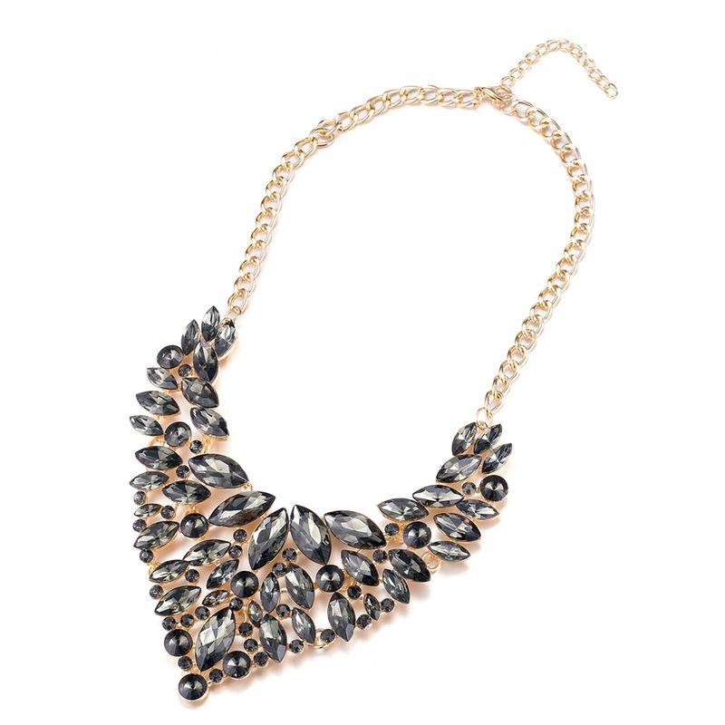 Fashion Women Jewelry Bib Imitated crystal Statement Pendant Chain Choker Collar Necklace FSN199 NHKL9029E