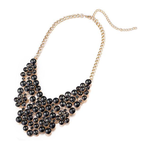 Fashion Women Jewelry Bib Imitated crystal Statement Pendant Chain Choker Collar Necklace FSN202 NHKL9032-E
