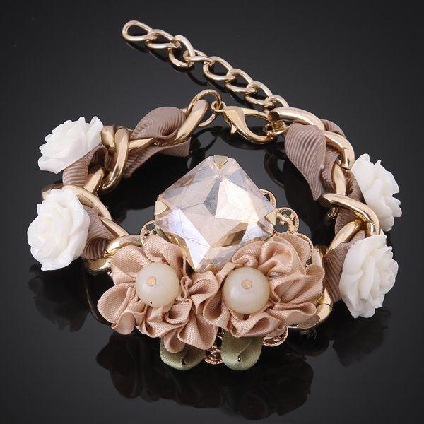 MCB002New Style Fashion Bracelet Handmade Shiny Women Imitated crystal Bracelet NHKL9396