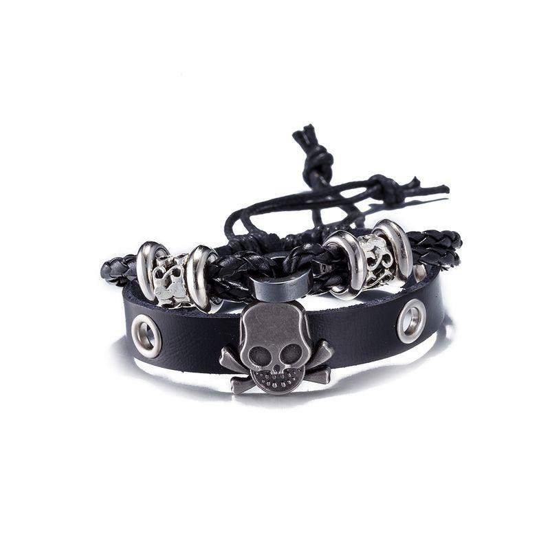 NEW Jewelry fashion Leather Cute Infinity Charm Bracelet Alloy lots Style PickD NHKL10479