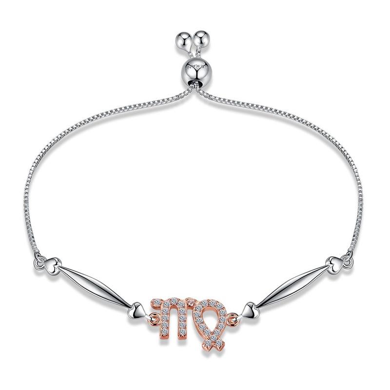Platinum Plated LAKANI 12 constellation sterling alloy hand chain virgo fashion trend bracelet NHKL12420