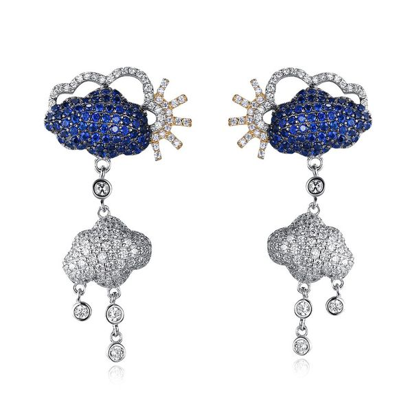 Platinum Plated  Stud Earrings NHKL12724