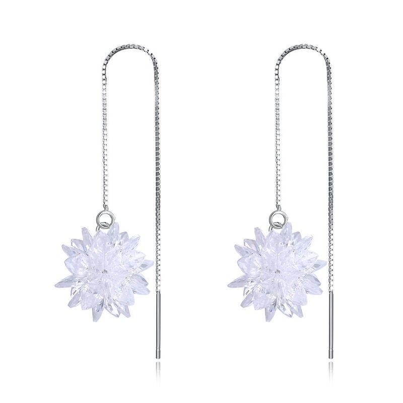 Platinum Plated  Dangle Earrings NHKL12738
