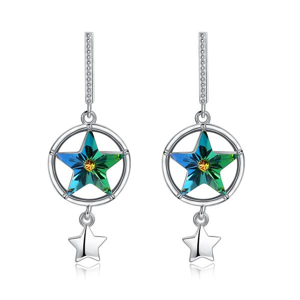 Platinum Plated  Dangle Earrings NHKL12760