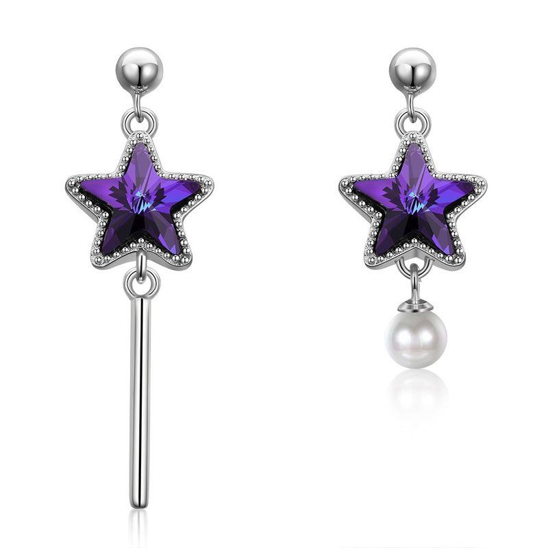 purple  Dangle Earrings NHKL12852-A