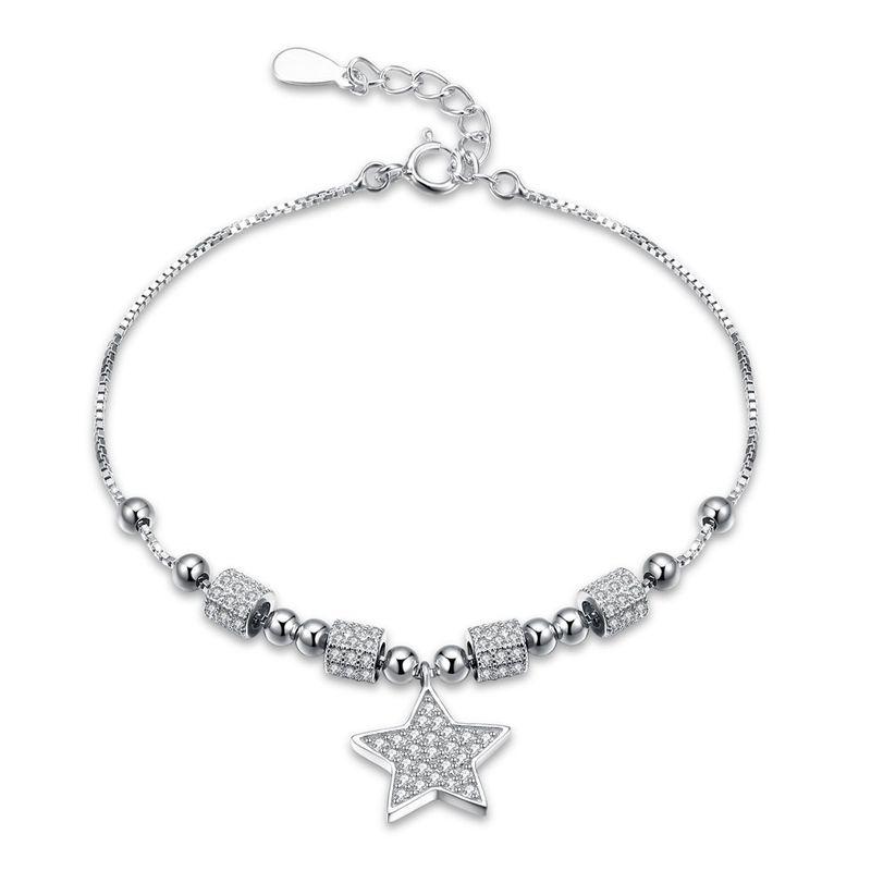 Platinum Plated  Sterling alloy bracelet NHKL10056