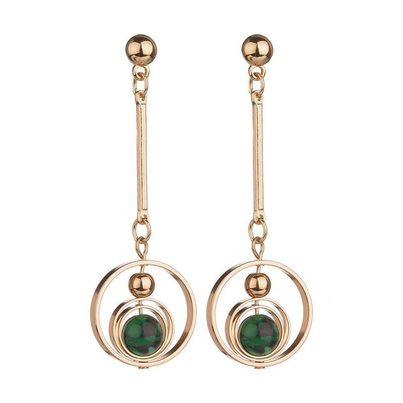 Alloy Simple Geometric earring  green NHBQ1346green