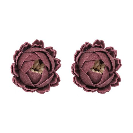 Cloth Korea Flowers earring  (red) NHJJ4866-red's discount tags
