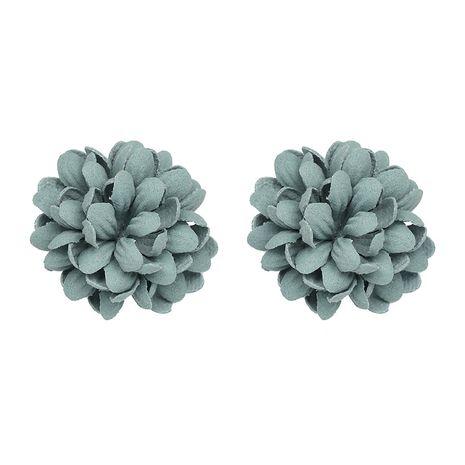 Cloth Korea Flowers earring  (green) NHJJ4867-green's discount tags