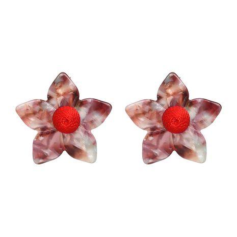 Plastic Fashion Geometric earring  (red) NHJJ4869-red's discount tags