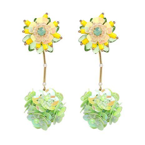 Plastic Fashion Flowers earring  (green) NHJJ4872-green's discount tags