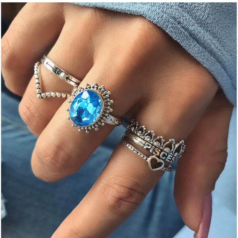 Alloy Vintage Geometric Ring  (Main color) NHGY1885-Main-color
