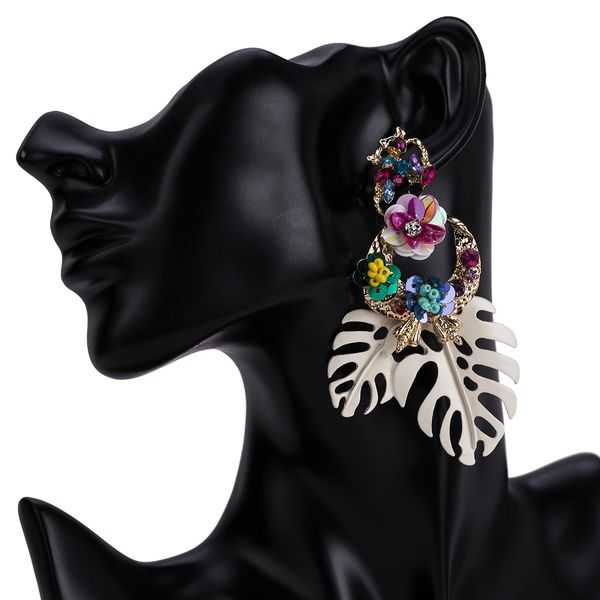 Alloy Fashion Flowers earring  (white) NHJE1436-white
