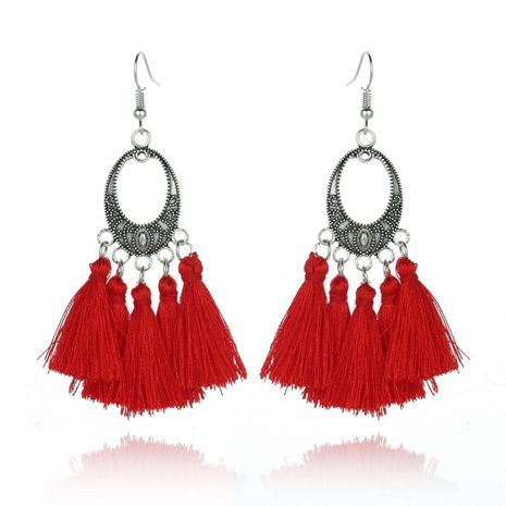 Alloy Vintage Geometric earring  (Red) NHGY1916-Red's discount tags