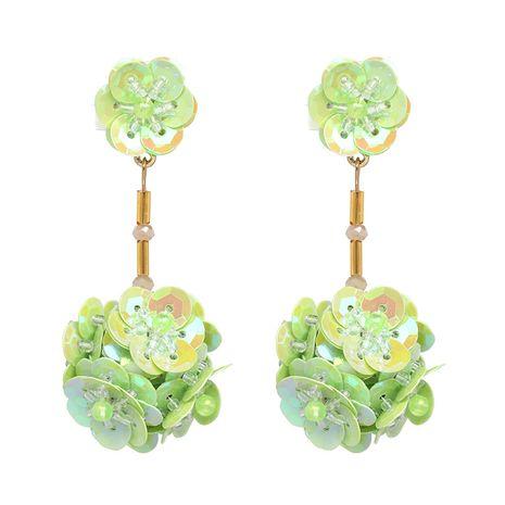 Plastic Fashion Flowers earring  (green) NHJJ4880-green's discount tags