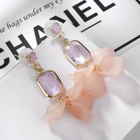 Alloy Korea Geometric earring  (Pink) NHLJ3965-Pink's discount tags