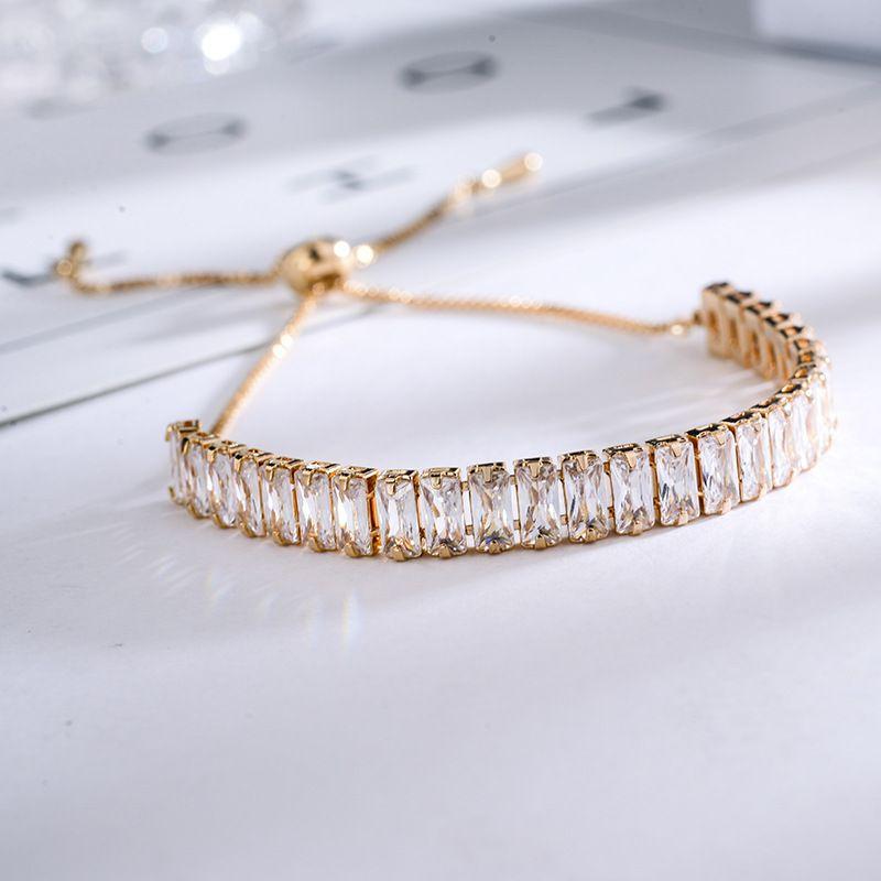 Alloy Fashion Geometric bracelet  (Rose alloy) NHLJ3979-Rose-alloy