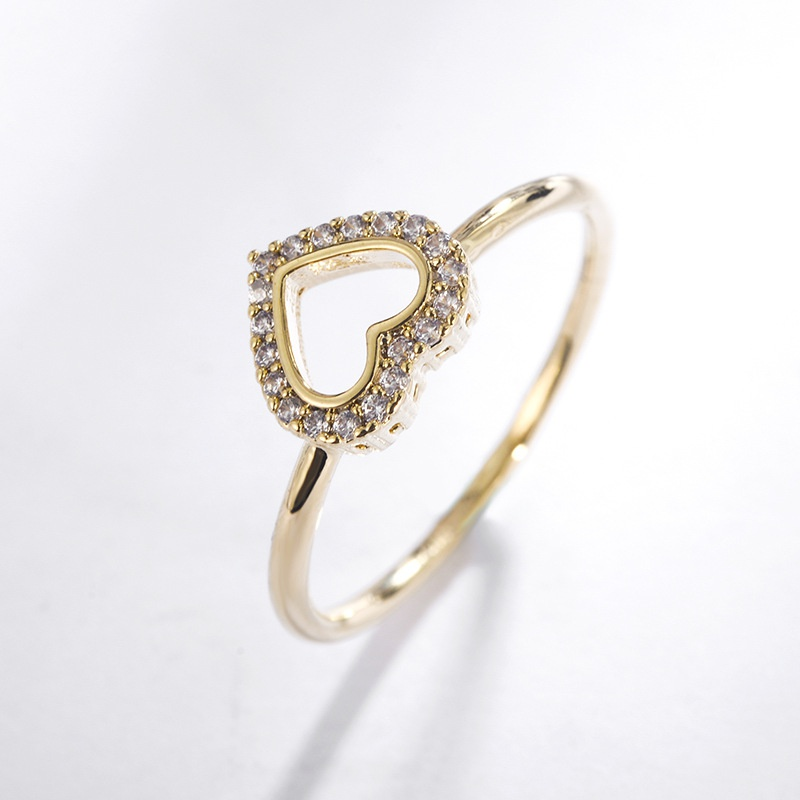 Alloy Simple Sweetheart Ring  (Alloy-16mm) NHLJ3980-Alloy-16mm