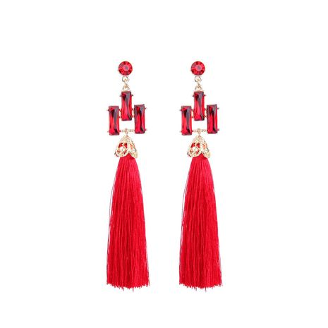 Alloy Fashion Geometric earring  (Red-1) NHQD5318-Red-1's discount tags