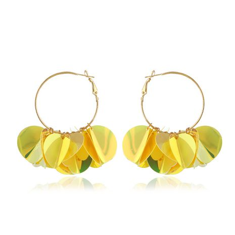 Acrylic Simple Geometric earring  (yellow) NHVA4966-yellow's discount tags