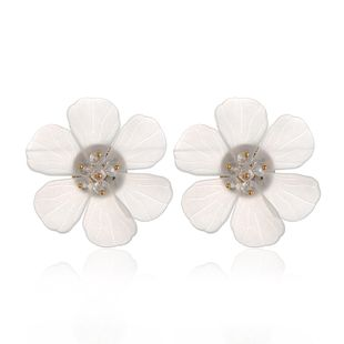 Acrylic Simple Flowers earring  (white) NHVA4976-white's discount tags