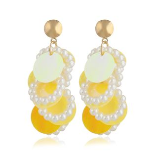 Acrylic Simple Geometric earring  (yellow) NHVA4977-yellow's discount tags