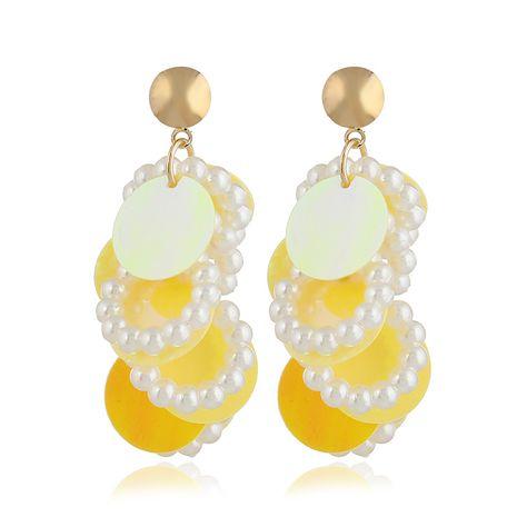 Acrylic Simple Geometric earring  (yellow) NHVA4977-yellow's discount tags