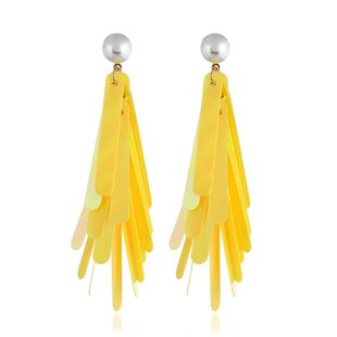 Acrylic Fashion Geometric earring  (yellow) NHVA4979-yellow's discount tags