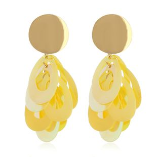 Acrylic Simple Geometric earring  (yellow) NHVA4980-yellow's discount tags