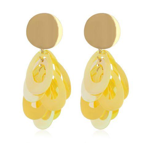 Acrylic Simple Geometric earring  (yellow) NHVA4980-yellow's discount tags